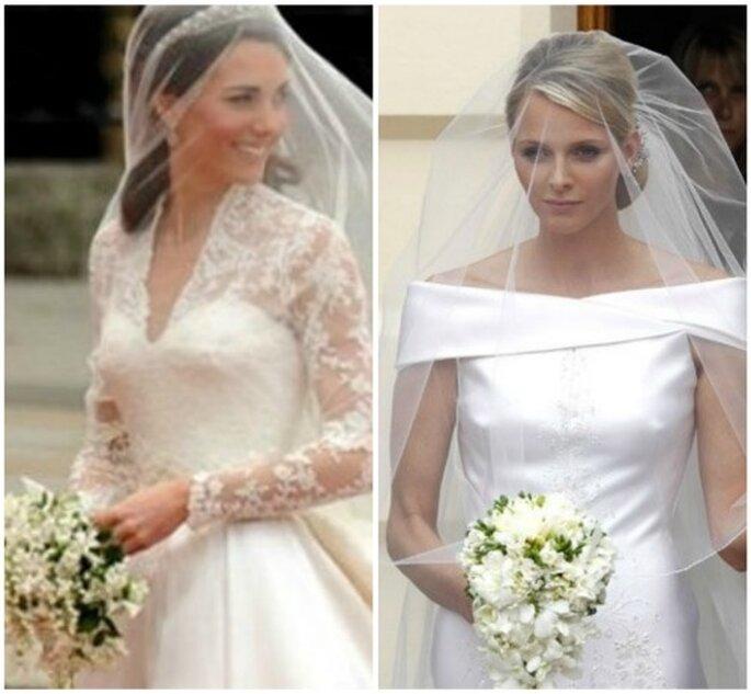 Kate Middleton y Charlene Wittstock, dos novias que marcan tendencia en 2012