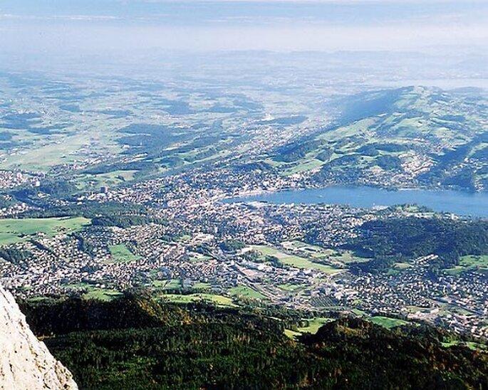 Ein Blick über Luzern. Photo: Roland Zumbühl