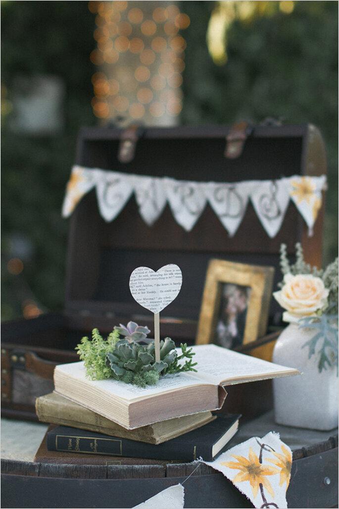 Un detalle muy especial para la decoraci n de tu boda los for Libros de decoracion