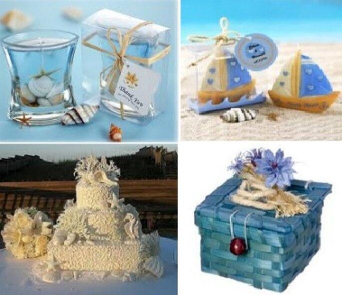 Los regalo para los invitados tambien con motivos marinos