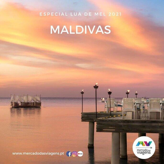 Lua-de-mel nas Maldivas