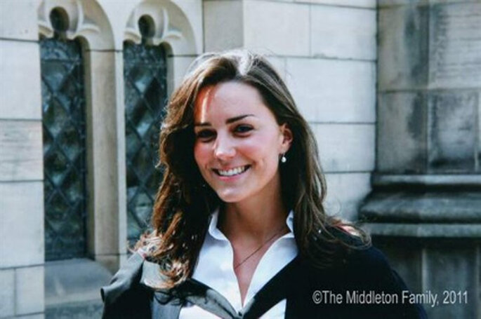 Kate Middleton en su graduación en St Andrews (Escocia). Foto: The Middleton Family