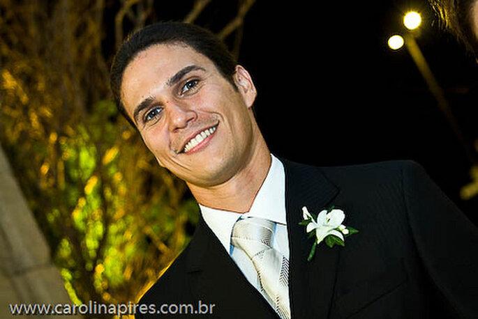 Die Krawatte ist DAS Accessoire für den Bräutigam. Foto: Carolina Pires