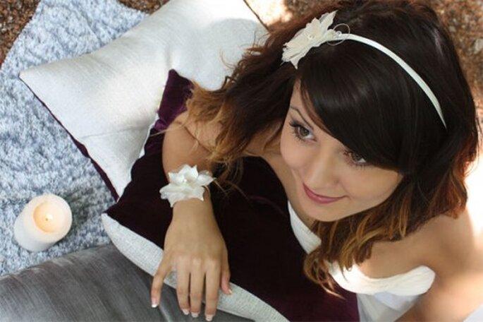 Misez sur vos bijoux de mariage pour parfaire votre allure le Jour J - Photo : Nuage de Perles