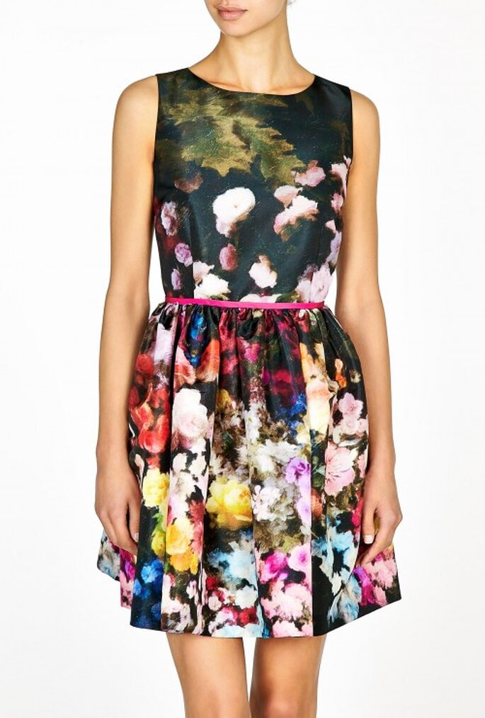 Vestido floral de Valentino - Foto Net a Porter