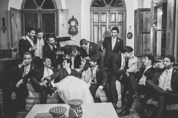 Ensaio entre noivos e padrinhos