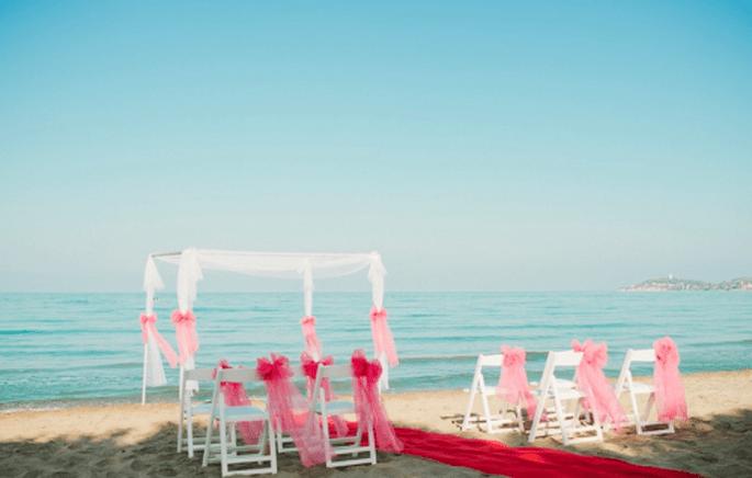 Decoración ideal para una boda en la playa - Foto Nadia Meli
