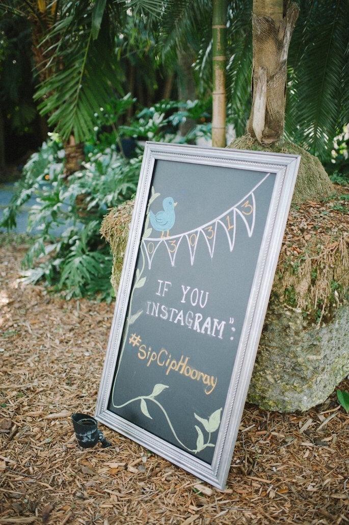 Decoración de boda con marcos y portarretratos - Shea Christine
