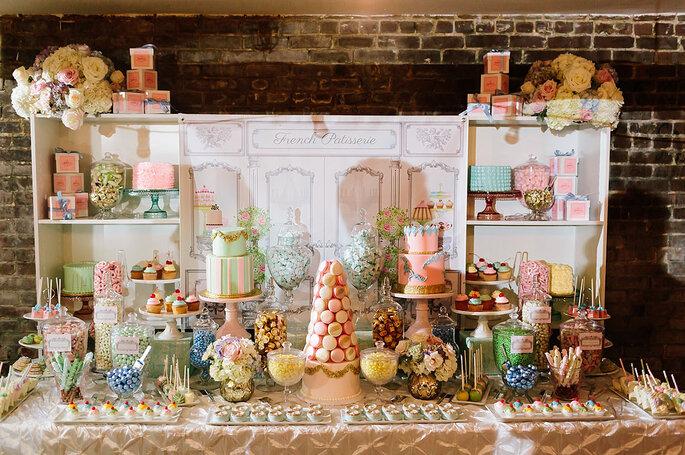 Mesas de dulces para boda