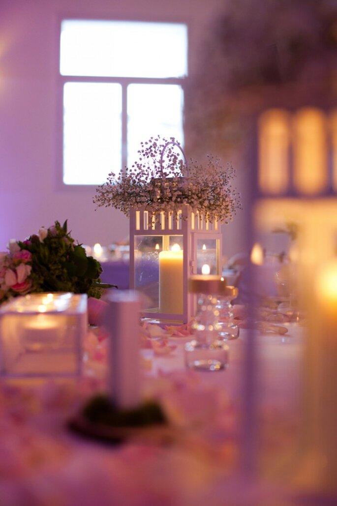 9- lanterne décorée gypsophile - décoration mariage saint-germain-en-laye