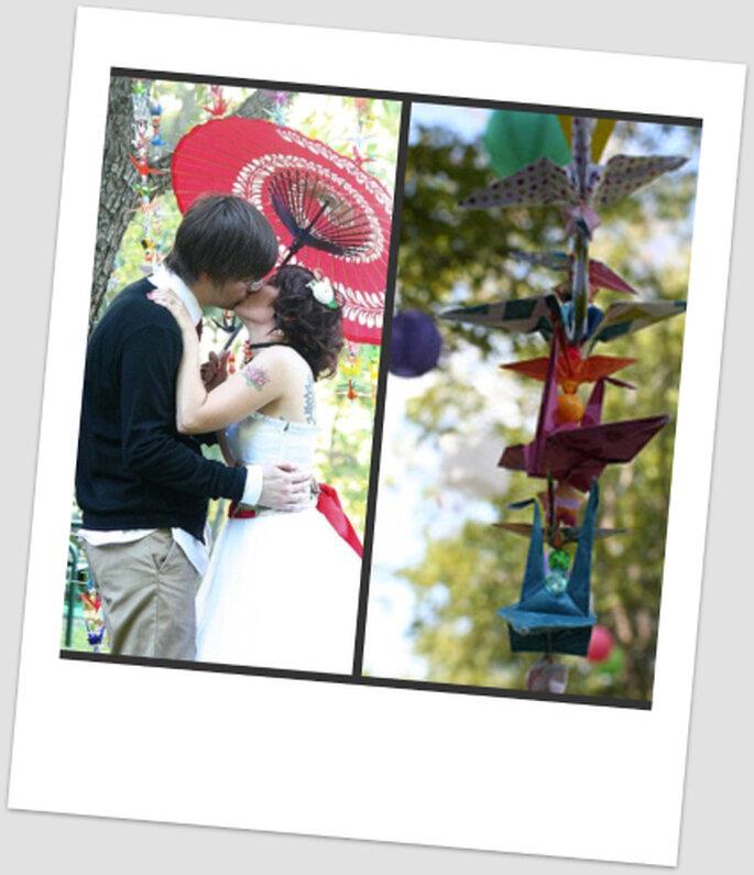 Heiraten mit japanischer Dekoration