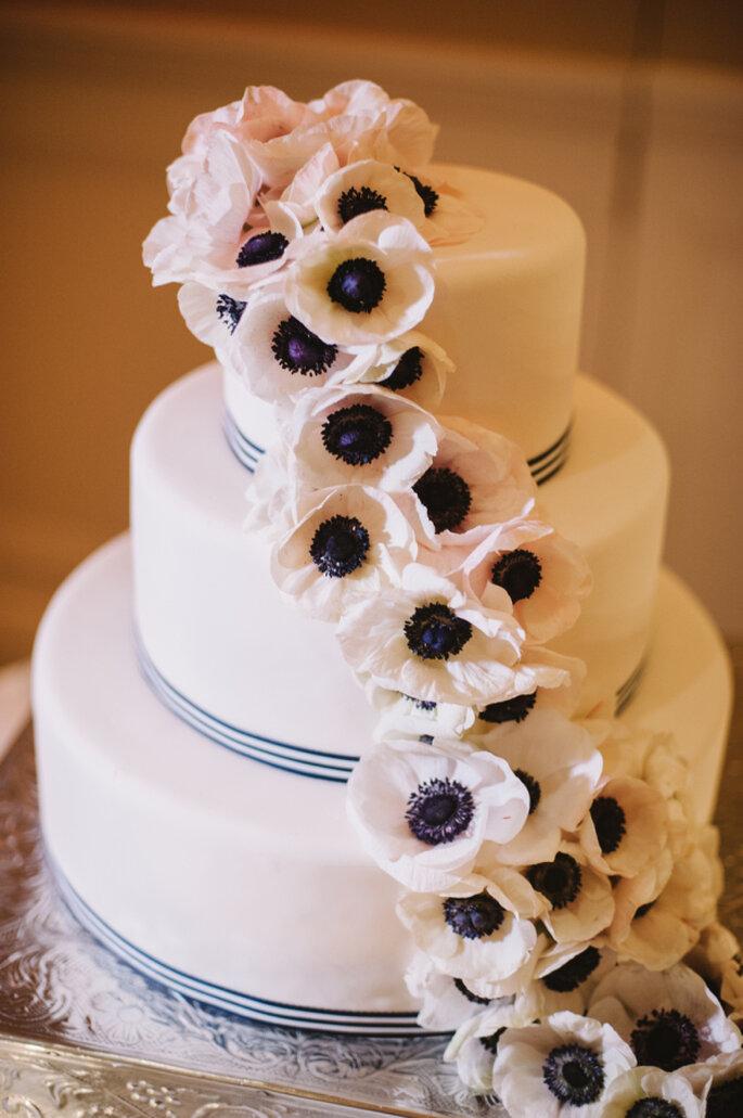 pastel con flores - Candice Benjamin Photography