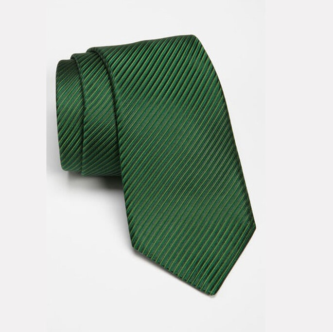 Corbata verde esmeralda para novio. Foto: ww.shopnordstrom.com