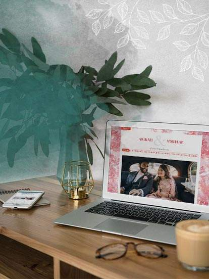 Creating your wedding website is easy and free