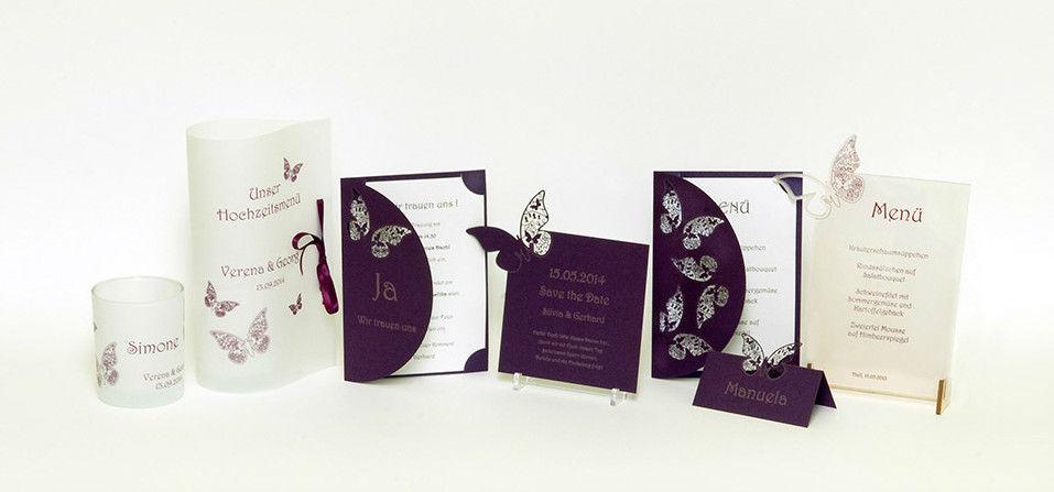 Beispiel: Hochzeitskartenset, Foto: Hochzeitlädchen.
