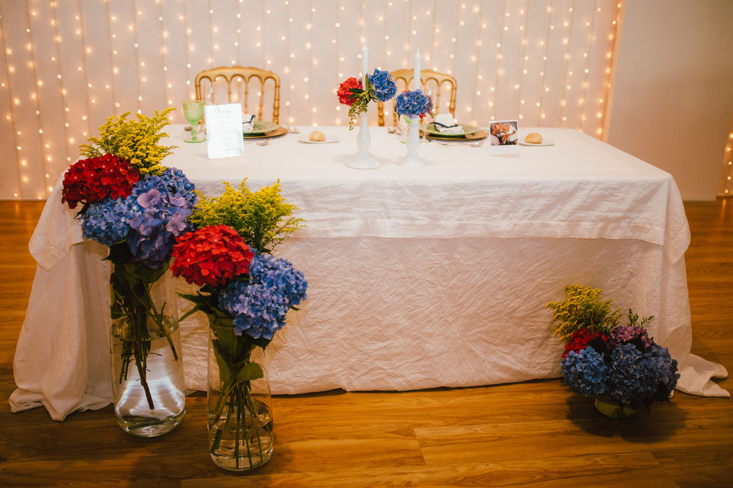 Bride and Groom table decoration