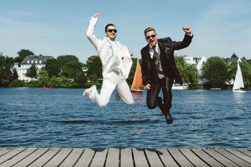 Beispiel: Witzige Fotos vom Hochzeitspaar, Foto: Patrick Ludolph.