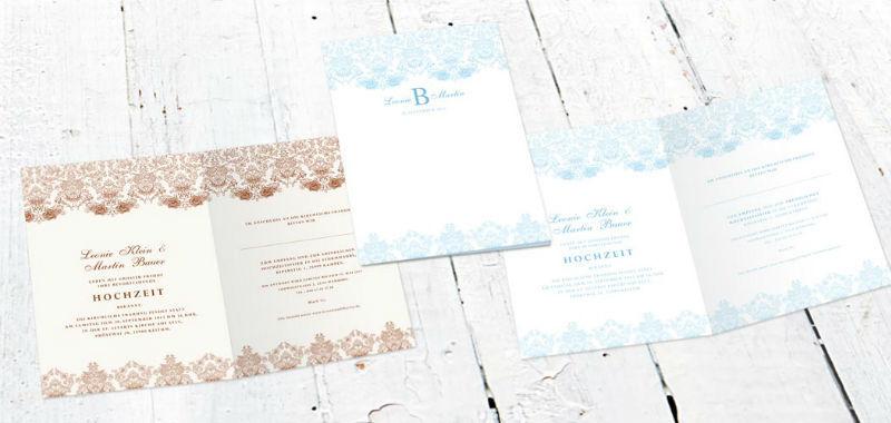 Beispiel: Hochzeitseinladung dekorativ barock, Foto: Paper Boutique.