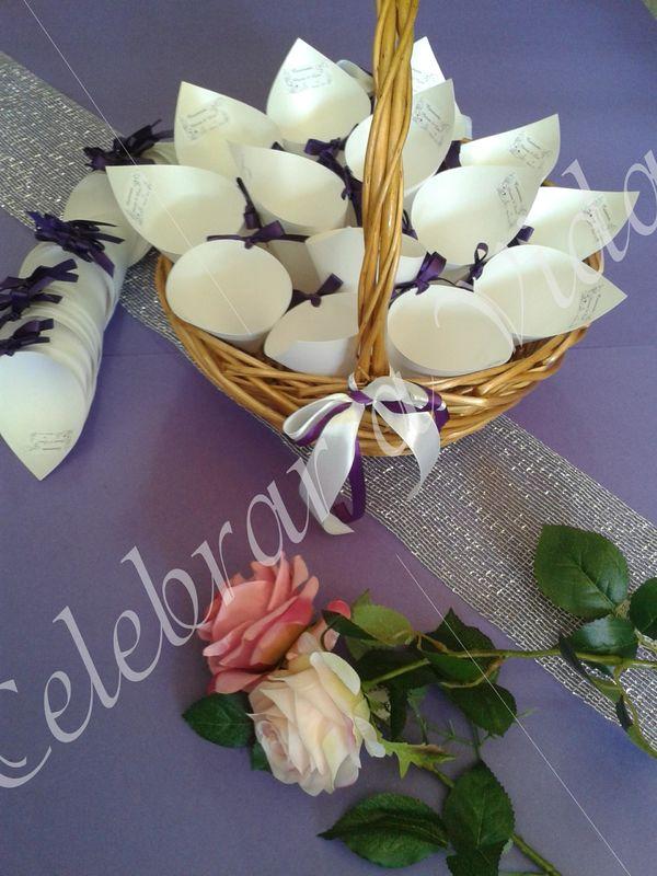 Cones de arroz | Cones de pétalas