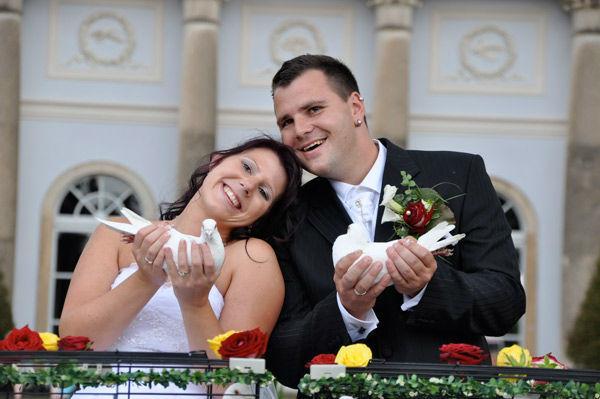 Beispiel: Gemeinsam ins Glück, Foto: Hochzeitstauben Dresden®.