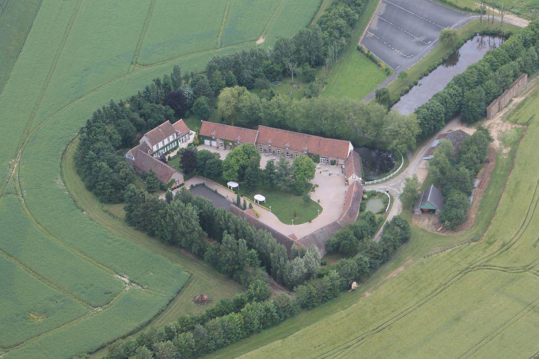 Vue aérienne  du domaine sur 7 hectares