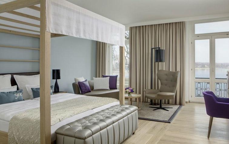 Beispiel: Junior Suite, Foto: Steigenberger Inselhotel Konstanz.