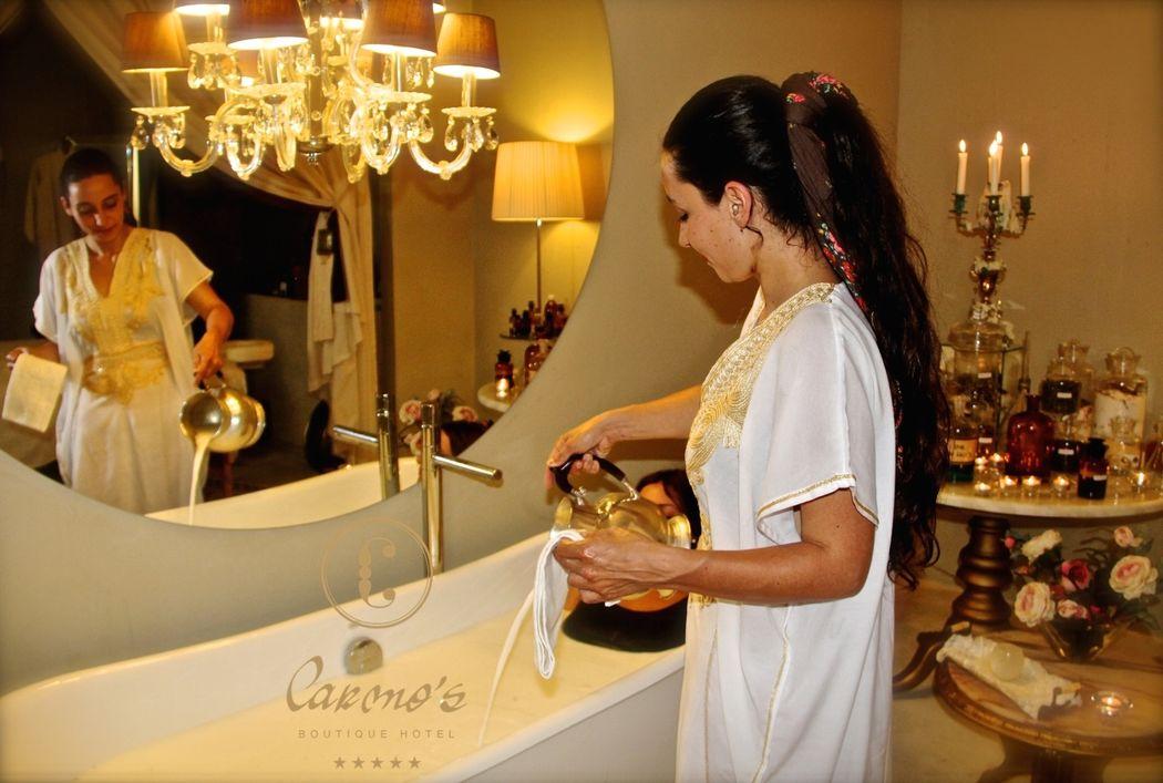 Divino Spa - preparação do Banho Cleopatra