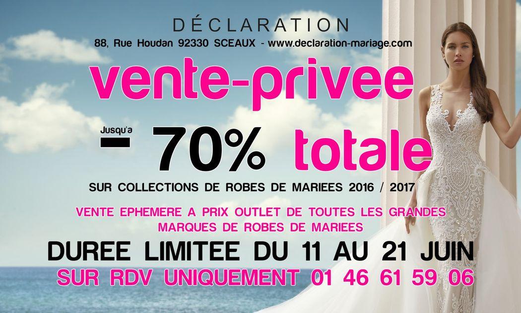 Vente privée Déclaration 2017
