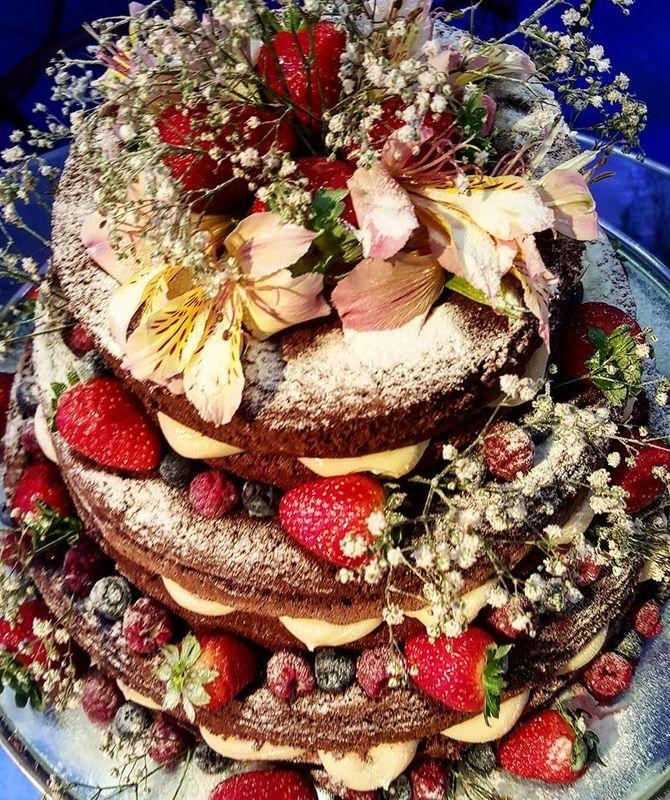 Naked cake chocolate gourmet