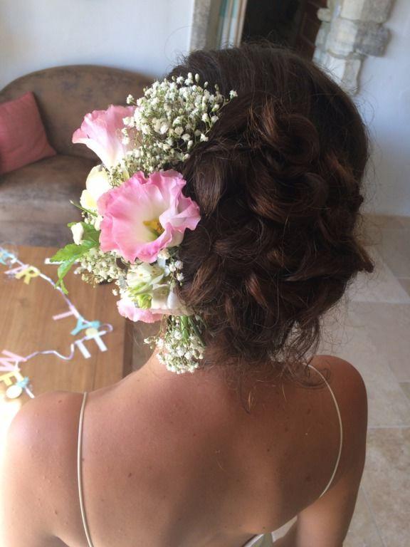 Peigne de fleur fraîche création Doigt de fée coiffure