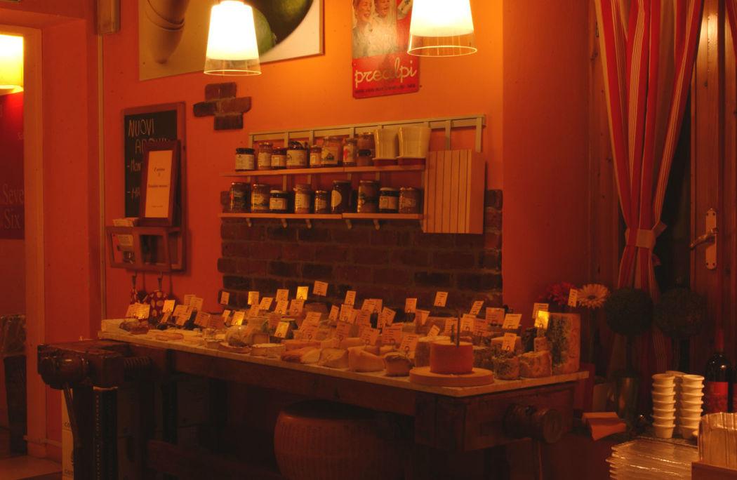 Il buffet dei formaggi
