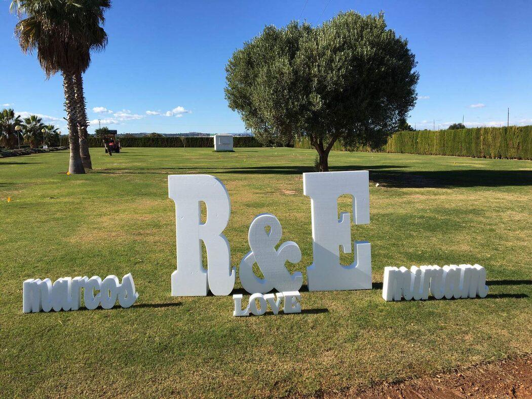 LETRAS XXL - Letras gigantes para bodas