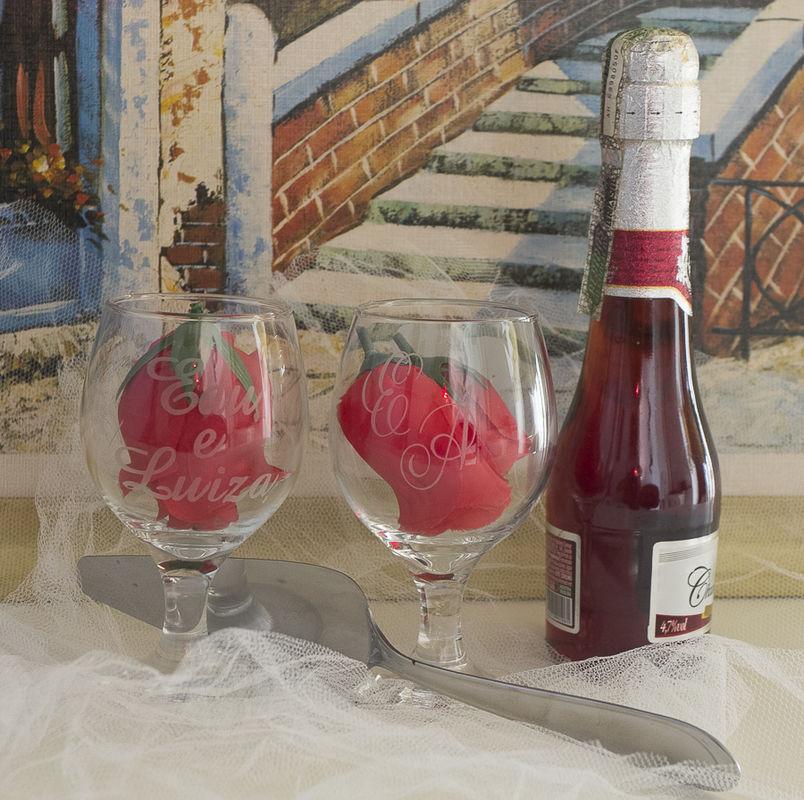 Taça de Vidro Personalizada : Modelo Taça Gallant Vinho 220 ml