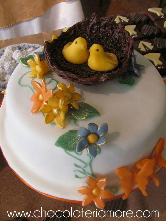 decoraciones en chocolate y mazapán