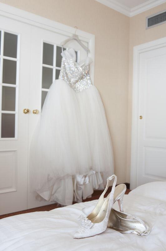 B&B Eventi Wedding - un abito da sposa scintillante