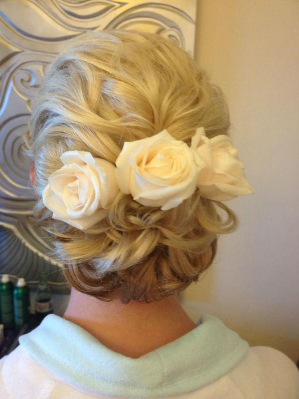 bride updo / peinado novia