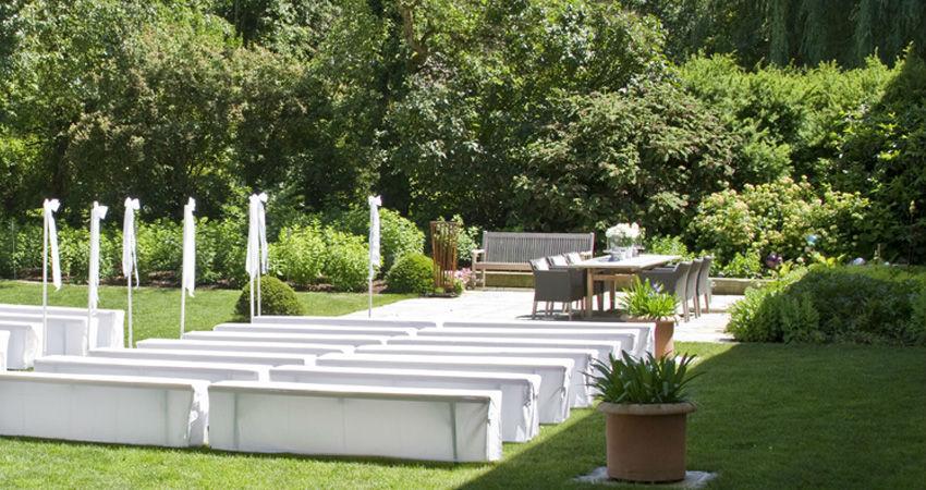 Beispiel: Trauung im Paradiesgarten, Foto: Eventbauernhof Ganglbauergut.