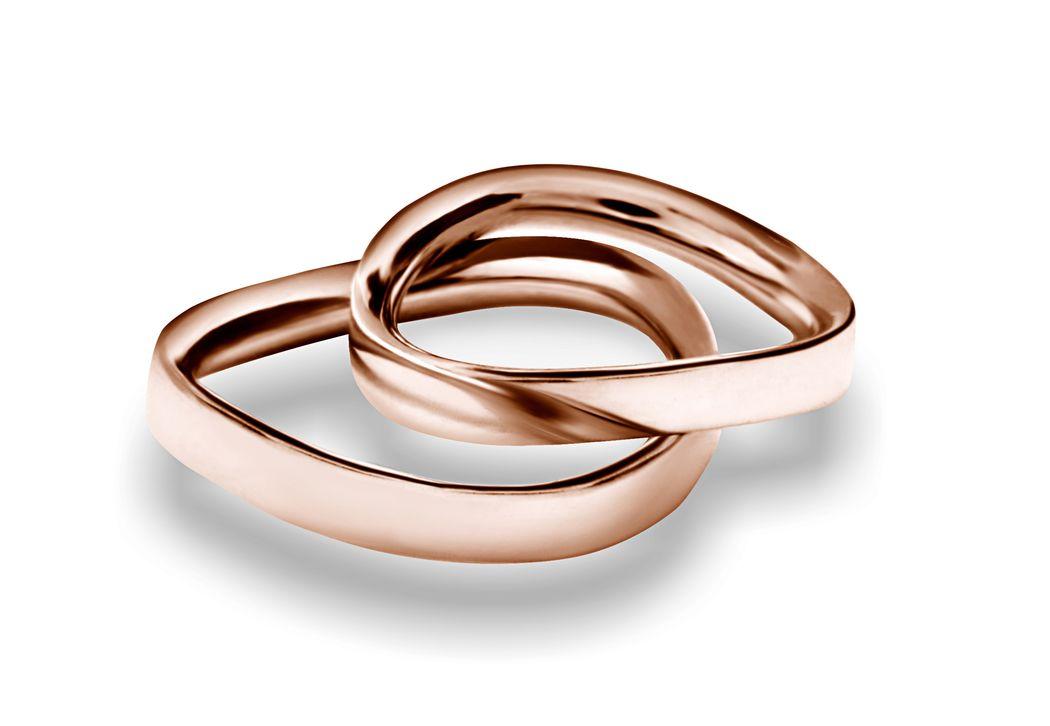 Fedi Matrimoniali Efrem Guidi Oro rosa LGBT community gay Wedding rings Italy Milano Brera Modello Egeo