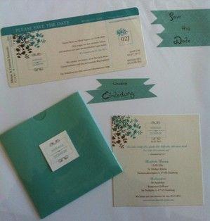 Beispiel: Idee für Hochzeitseinladung, Foto: Wunschmomente.