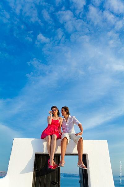 After Wedding Reise. Santorini, Griechenland