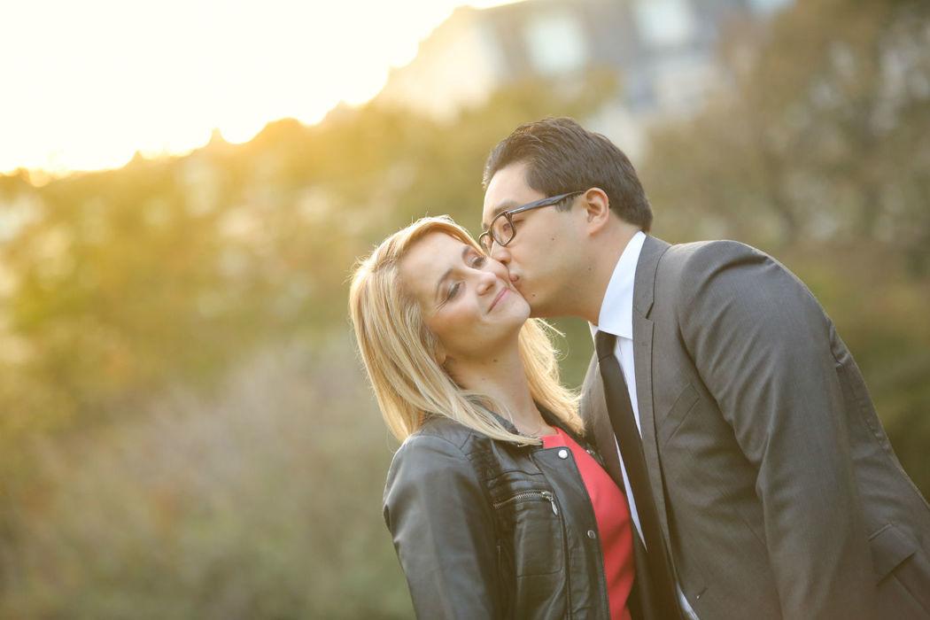 Photo spontanée de couple.