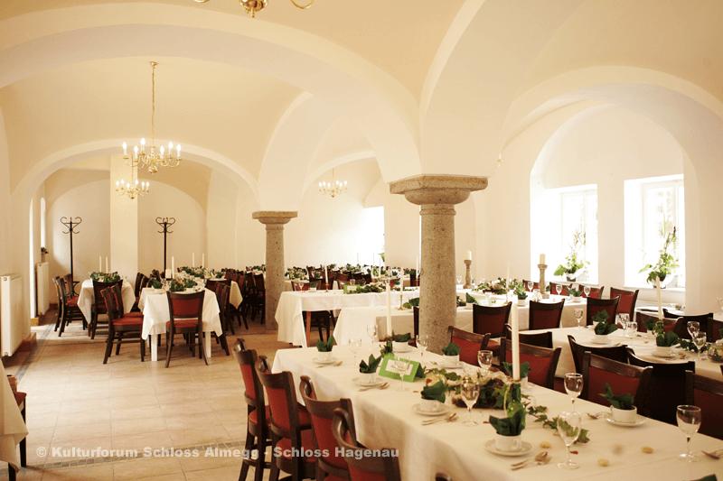 Beispiel: Hochzeitssaal, Foto: Schloss Hagenau.