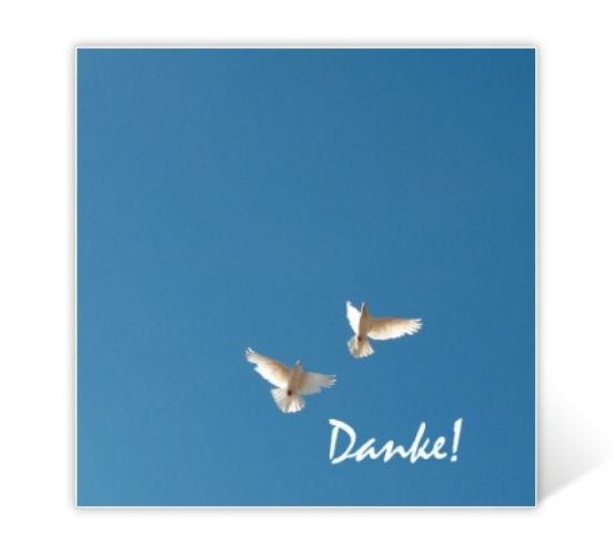 Beispiel: Danksagungskarten, Foto: Poobies.