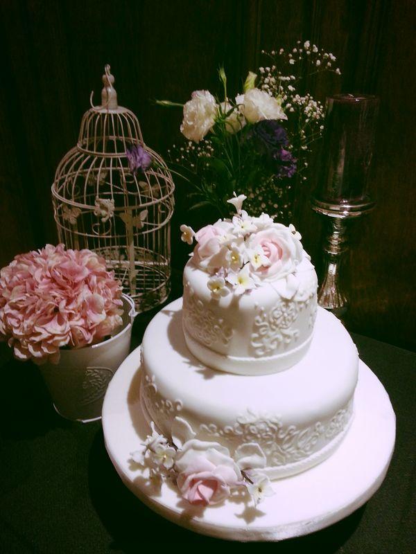 Decoración mesa de torta