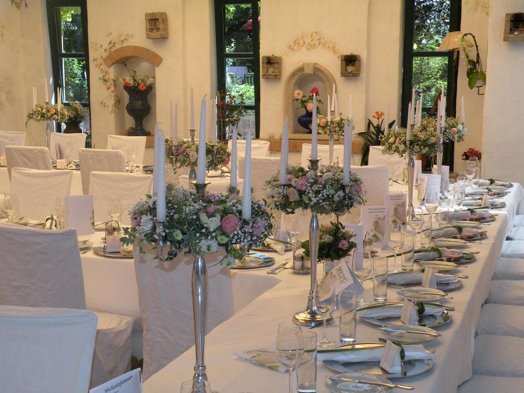 Beispiel: Hochzeitsfloristik, Foto: Hochl & Co.