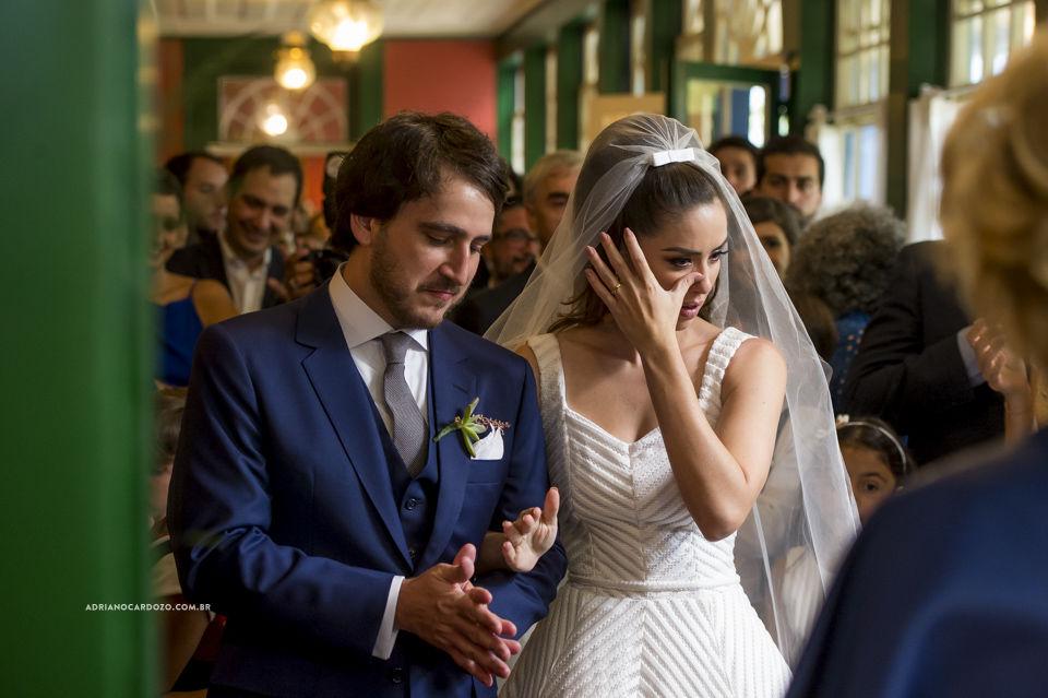 A emoção do lindo casal Fernanda e Nestor