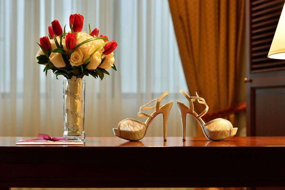 Bouquet rosas y tulipanes.