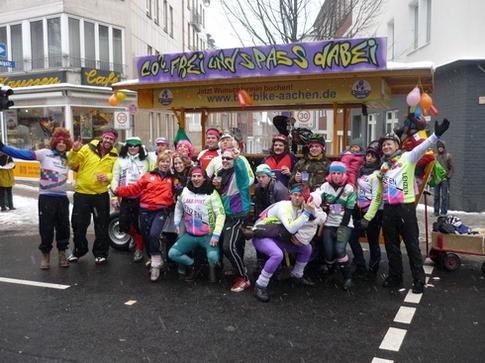 Beispiel: Radtour mit Spaß, Foto: BierBike Aachen.