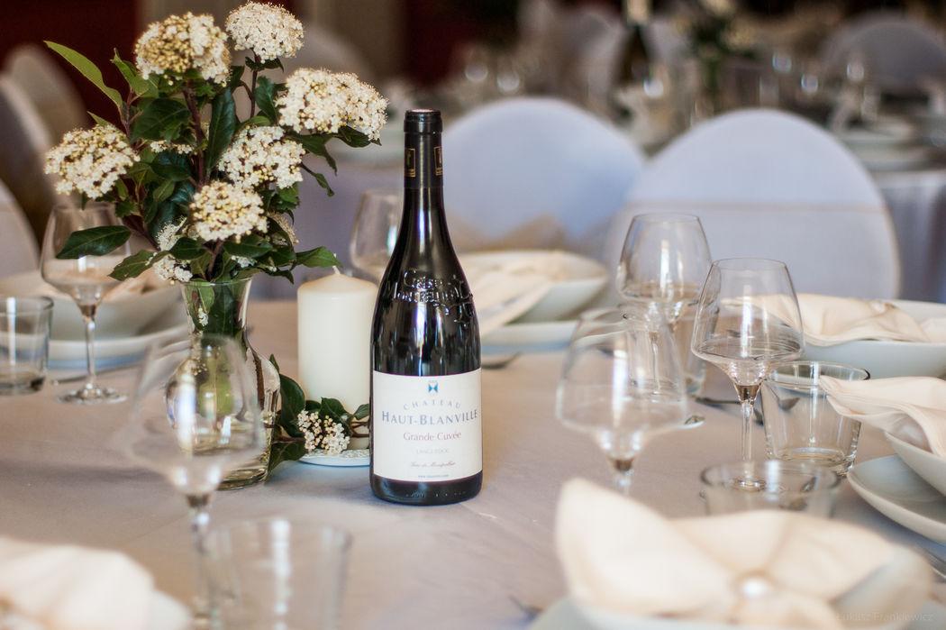 Vous pouvez choisir parmi un large gamme de vins rouges, blancs et rosé.