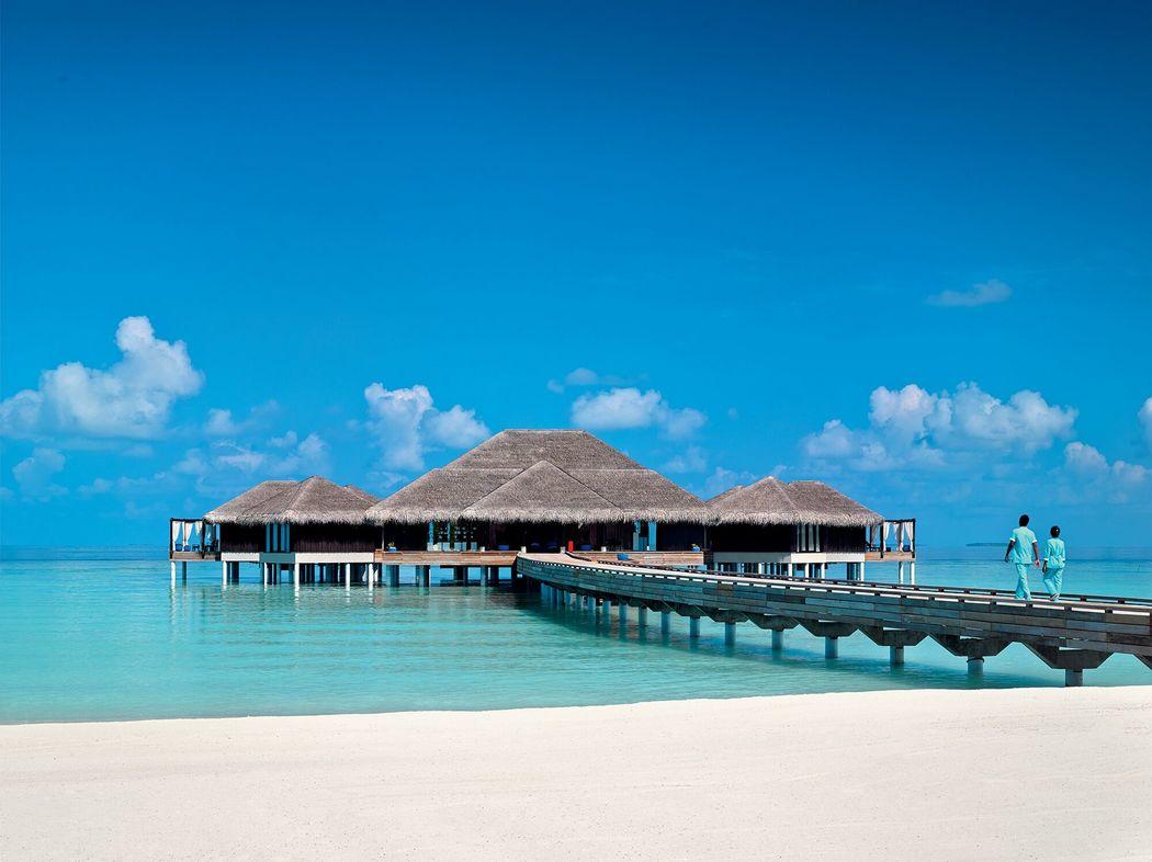 Spa sobre el agua en Maldivas